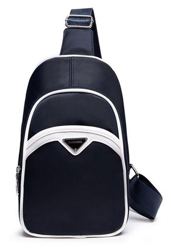 Vince blue Men's Fashion Premium Nylone Shoulder Bag (Blue) FL898AC08AVFMY_1