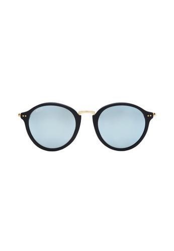 Kapten & Son black and blue Maui - Matt Black/Blue Mirrored Glass 64EC5GL1163771GS_1