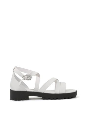 London Rag white White Multi Strap Platform Sandals C9B5DSH77A08D6GS_1