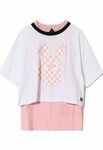 Mini cream white Graphic print two-piece T-shirt 1241CAA9DEEA30GS_1
