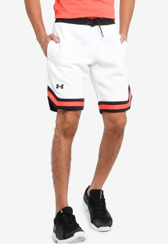 Under Armour 白色 Rival Fleece Amp Shorts 78BA3AAF96A62DGS_1