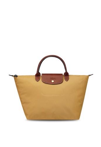 LONGCHAMP orange Le Pliage Original Top Handle Bag M (zt) D010FAC061545BGS_1