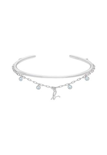 agnès b. silver 18K Chillout Blue Crystal Bracelet E94BFAC2DF3FBEGS_1