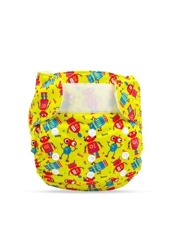 Cheekaaboo yellow Baby Boy 2-in-1 Reusable Diaper D9669KC1257DCDGS_1
