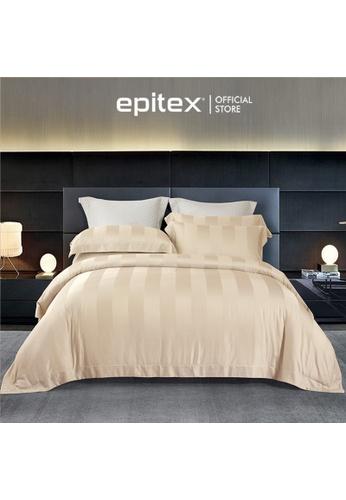 Epitex beige Cressent Dale Premium 1200TC Bamboo BD5804-3 Bedset (w quilt cover) 4225FHL3DCF631GS_1