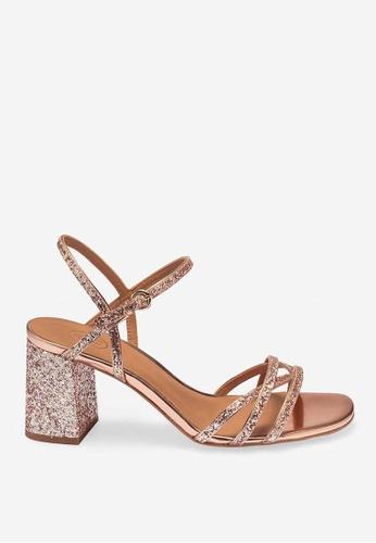 ASH pink Sparkle - Pink Glitter Rendition Sandals 66175SH573D539GS_1