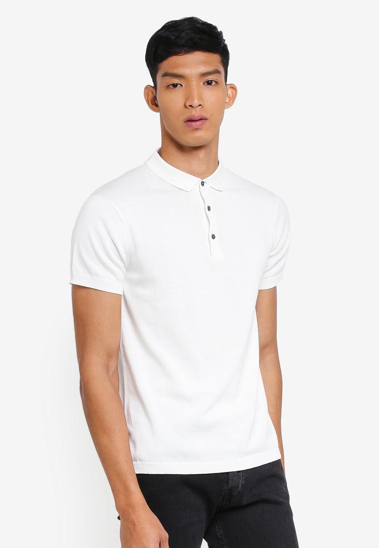 Blanc Jack Jones Shirt Blanc Igor Knit De amp; Polo PZHf7