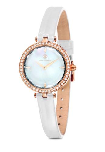 Anzalora鞋gel 水晶圓框細帶錶, 錶類, 指針型