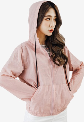 Sesura pink Everyday Water Repellent Jacket 9A29DAAF784A35GS_1