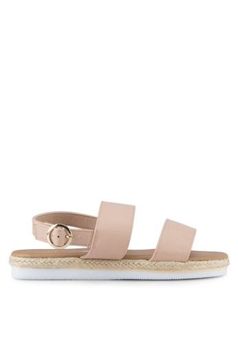 Rubi pink Kim Espadrille Sandals RU506SH0SKUKMY_1