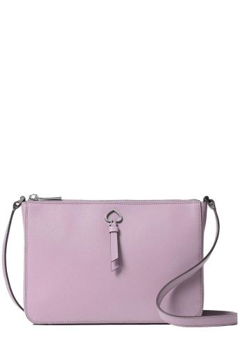 Kate Spade pink and purple Kate Spade Adel Medium Top Zip Crossbody Bag in Valerian A4AB9AC60A4455GS_1