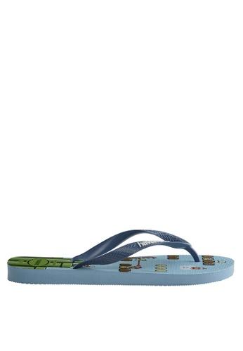 Havaianas blue Mario Bros Flip Flops C19D9SHB0976F2GS_1