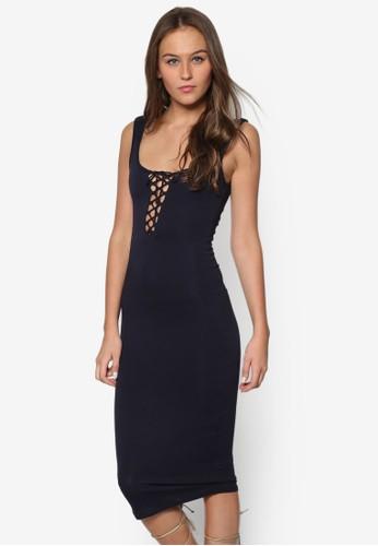 繫帶低胸esprit官網貼身連身裙, 服飾, Dress To Impress