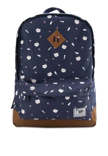 小貓咪圖案後背包, 包, 後esprit專櫃背包