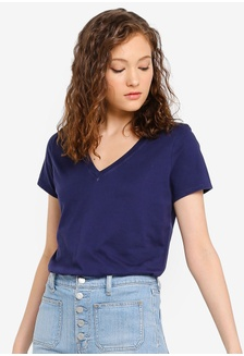 c70c712b4ebf6e Buy ZALORA BASICS Basic Short Sleeves Wrap Top Online on ZALORA ...