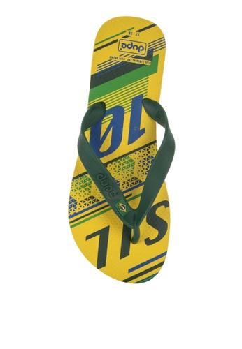 Dupe yellow Selecoes Brasil Sandals & Flip Flops F9CEASHAB0F0C7GS_1