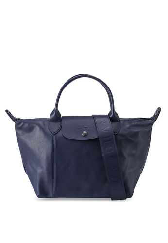 LONGCHAMP blue Le Pliage Cuir Top Handle Bag S (nt) 39DF2ACEC21BC2GS_1