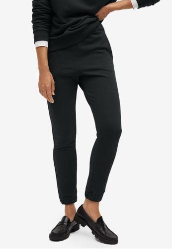 Mango grey Cotton Sweats Trousers 3D52DAA4A57A25GS_1