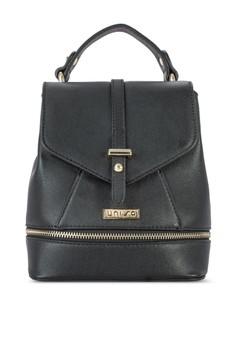 UNISA Duo-Tone 3-Way Sling/Backpack With Top Handle