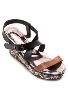 Woven Covered Wedge Sandals