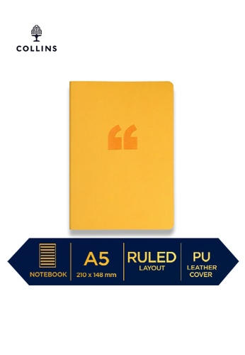 Collins yellow Collins Edge Rainbow  ─  Notebook A5 Ruled Yellow BE89AHL13F7FA1GS_1
