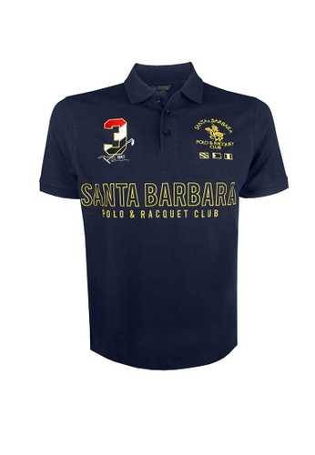 Santa Barbara Polo & Racquet Club navy SBPRC Regular Polo Shirt 10-9309-93 48E45AA46C43AEGS_1