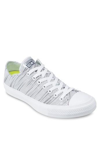 Chuck Taylor All Star II Lunarlon Foam Kniesprit taiwant Sneakers Ox, 女鞋, 鞋