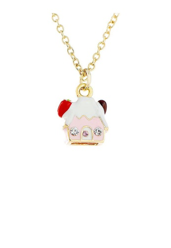Glamorousky silver Glistering Cottage Pendant with Pink and Silver CZ and Necklace 78C95AC14554B5GS_1