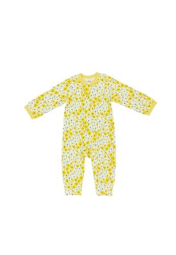 Baby Lovett white Summer Blooms Two-Way Zipper Suit 72FCDKA0341E41GS_1