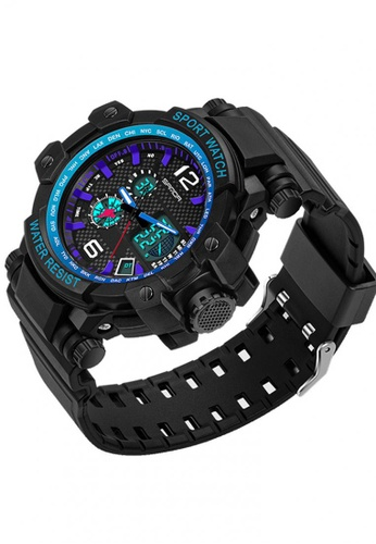 SANDA blue SANDA 729 Waterproof Outdoor Multifunctional Sports Men's Quality Shockproof Digital Watch (Blue) SA708AC0RXBPMY_1
