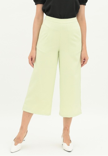 Love Knot green Iris Wide Leg Culottes (Lime Green) 9139EAAA247C68GS_1