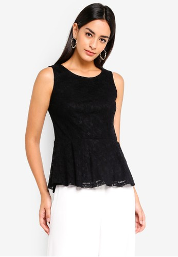 Vero Moda black Lullo Lace Top 02DA0AAB416091GS_1