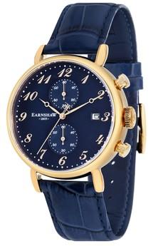 Thomas Earnshaw Men's Genuine Leather Strap Watch - ES-8089-05