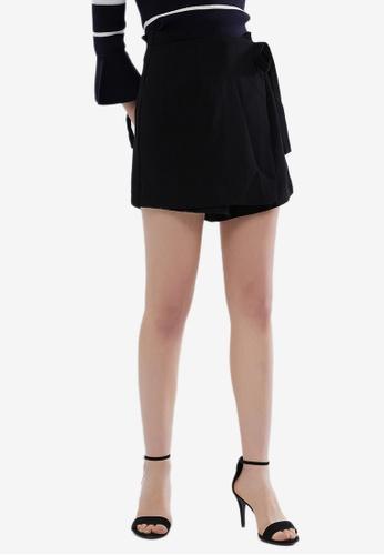 Hopeshow 黑色 High Waist Tailored Shorts 74008AAD3AE843GS_1
