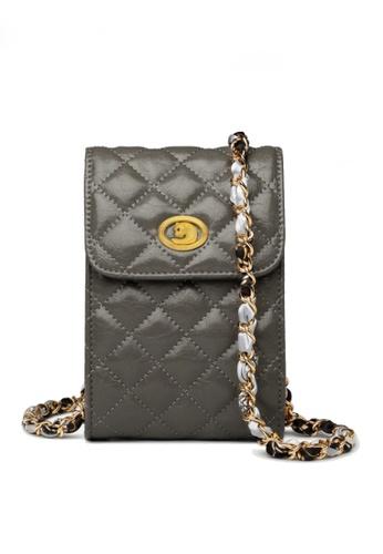Twenty Eight Shoes grey VANSA Fashion Lingge Chain Crossbody Bag VBW-Ps503 6CA87AC4DE00E0GS_1