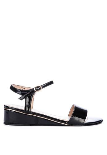 CARMELLETES black Low Wedge Sandals C80D4SH6FDC86EGS_1