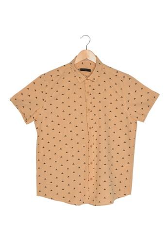 Trendyol yellow Printed Short Sleeve Shirt 7D977AA4B0948FGS_1