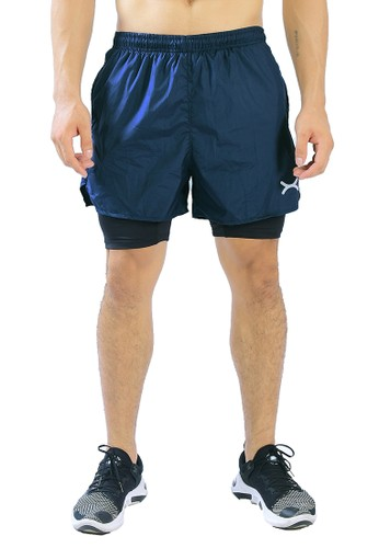 Flexzone blue FLEXZONE Sports Short Pants combo Legging Accelerate Series Navy C95E5AAA00908AGS_1