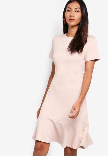Basic Fit And Flare Peplum Dress
