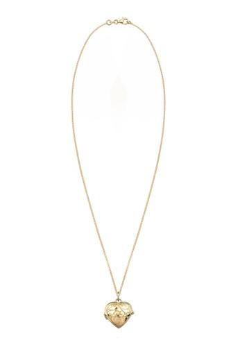 925 純銀鍍金心形墜飾項鍊, 飾品配esprit 會員件, 項鍊