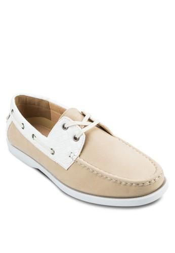 撞色仿皮繫帶莫卡zalora 內衣辛鞋, 鞋, 鞋