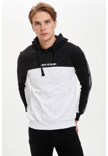 DeFacto black Man Knitted Sweat Shirt A649BAAD199E6DGS_1