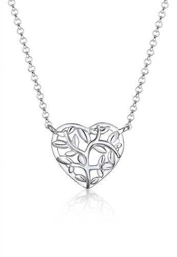 Elli Germany silver 925 Sterling Silver Kalung Tree of Life Heart Silver 370E7ACD35C3F9GS_1