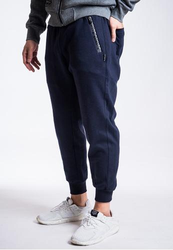 L.I.M.I.T.E blue Printed Zipper Sweat Pants 3696BAA9286FD0GS_1