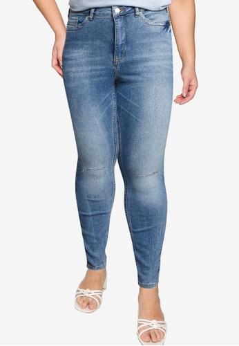 Vero Moda blue Plus Size Loraemilie High Waisted Jeans 9E9C6AA72C9024GS_1