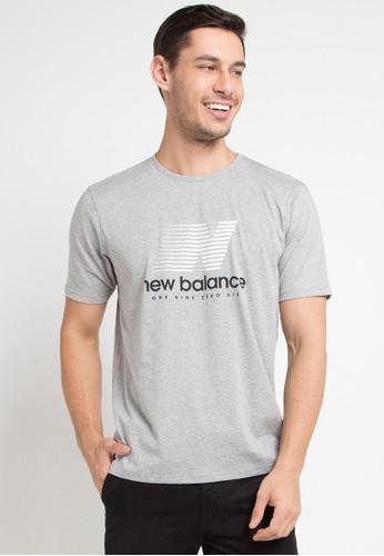 New Balance grey Speed Tee B53C1AA4927287GS_1