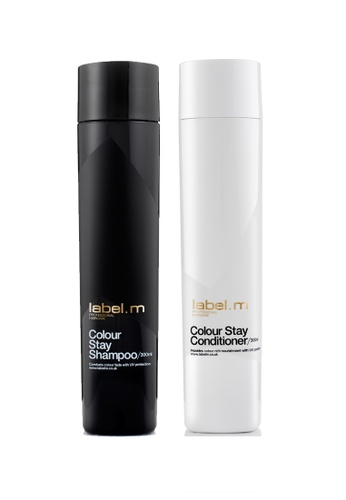 label.m black and white Colour Stay Shampoo and Conditioner 300ml Duo Set LA590BE20FLFSG_1