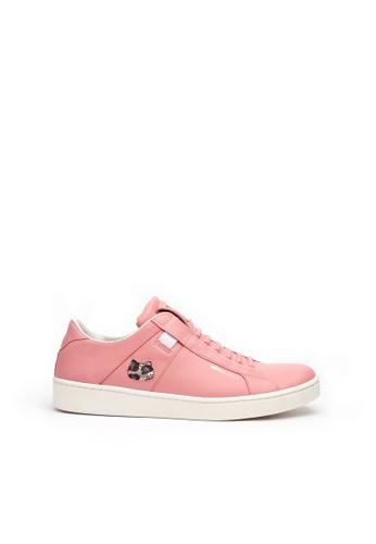 Royal Elastics 粉紅色 Icon Catwalk 真皮休閒鞋 DFB15SH48AFE15GS_1