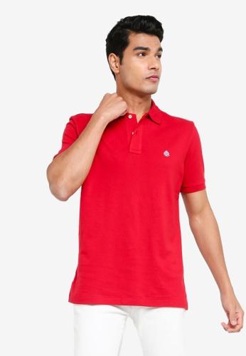 Springfield red Essential Pique Polo Shirt E74ADAAD12DFCBGS_1