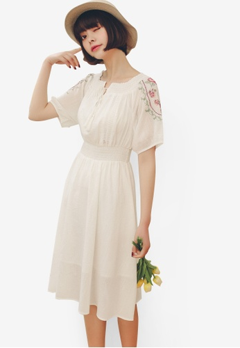 Shopsfashion white Boho Midi Dress 50AB4AA0321A1AGS_1
